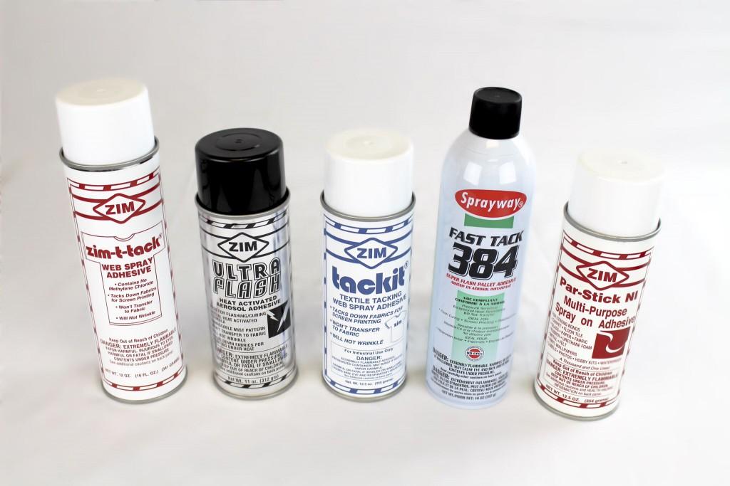 Spray adhesives
