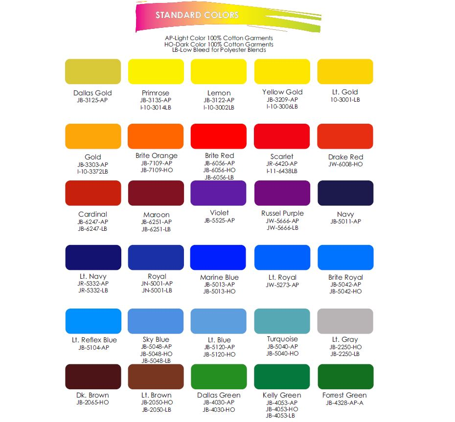 screen printing inks Atlanta