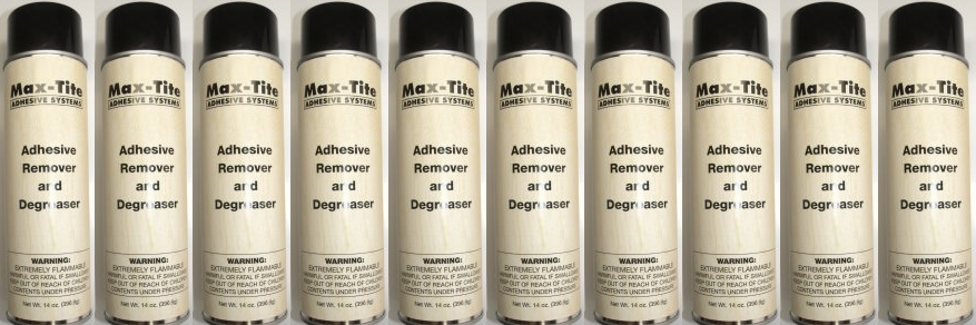 Zim International carries a full line of Max Tite products including adhesives and adhesive remover.